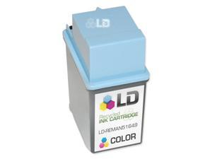 LD © Remanufactured Replacement Ink Cartridge for Hewlett Packard 51649A (HP 49) Tri-Color