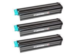 LD © Compatible Okidata 43979206 Set of 3 High Yield Black Laser Toner Cartridges for OKI B420dn, & MB480 MFP Printers