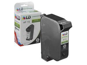 LD © Remanufactured Replacement Ink Cartridge for Hewlett Packard C6615DN (HP 15) Black