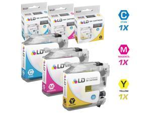 LD © Brother Compatible LC103 Set of 3 Ink Cartridges: 1 each of Cyan / Magenta / Yellow  for the MFC J245, J285DW, J450DW, ...