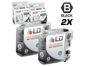 LD © Brother Compatible LC103 Set of 2 Ink Cartridges: 2 Each of LC103BK Black for the MFC J245, J285DW, J450DW, J470DW, ...