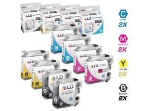 LD © Brother Compatible LC103 Set of 8 Cartridges: 2 Each of Black / Cyan / Magenta / Yellow for the MFC J245, J285DW, J450DW, ...