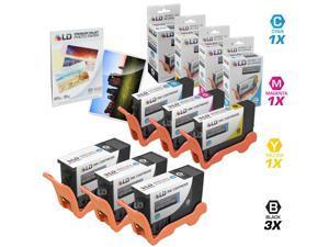 LD © Compatible Dell  V525W / V725W Set of 6 Inkjet Cartridges: 3 Black 331-7377, 1 Cyan 331-7378, 1 Magenta 331-7379 and ...