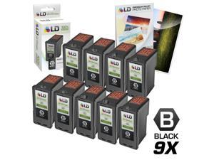 LD © Remanufactured Lexmark 18C0032 #32 Set of 9 Black Ink Cartridges + Free 20 Pack of LD Brand 4x6 Photo Paper