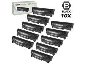 LD © Remanufactured Replacement Set of 10 HP 12A / Q2612A Black Laser Toner Cartridges for LaserJet 3030, 1018, 1022n, 1012, ...