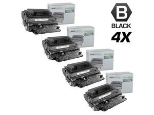 LD © Compatible Replacement Set of 4 HP 64A / CC364A Black Laser Toner Cartridges for use in the LaserJet P4014dn, P4014n, ...