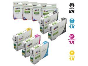 LD Remanufactured Replacement for Epson T069 Set of 5 Ink Cartridges Includes: 2 T069120 Black, 1 T069220 Cyan, 1 T069320 ...