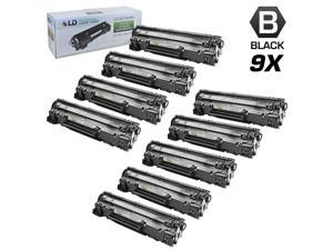 LD © Remanufactured Replacement Set of 9 HP 78A / CE278A Black Laser Toner Cartridges