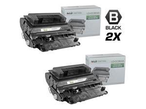 LD © Compatible Replacement Set of 2 HP 64A / CC364A Black Laser Toner Cartridges for use in the LaserJet P4014dn, P4014n, ...