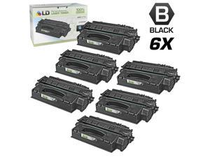 LD © Remanufactured Replacements for Hewlett Packard Q5949X (HP 49X) 6PK HY Black Toner Cartridges for HP LaserJet 1320, ...