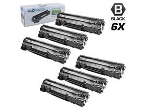 LD © Remanufactured Replacement Set of 6 HP 78A / CE278A Black Laser Toner Cartridges