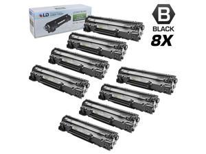 LD © Remanufactured Replacement Set of 8 HP 78A / CE278A Black Laser Toner Cartridges