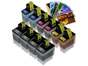 LD © Brother Compatible LC41 Bulk Set of 10 Ink Cartridges: 4 Black & 2 each of Yellow / Cyan / Magenta + Free 4x6 Photo ...