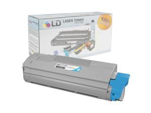 LD © Compatible Okidata 44315303 Cyan Laser Toner Cartridge for use in OKI C610cdn, C610dn, C610dtn, & C610n