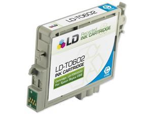 LD © Remanufactured Replacement for Epson T060220 Cyan Pigment Based Inkjet Cartridge for use in Epson Stylus C68, C88, C88Plus, ...