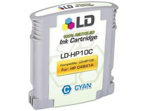 LD © Remanufactured Replacement for Hewlett Packard C4841A (HP 10) Cyan Ink Cartridge for HP DesignJet, and Professional ...