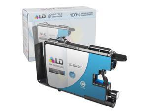 LD © Brother Compatible LC75C High Yield Cyan Ink cartridge. (LC75 Series) for use in the Brother MFC-J6510DW, MFC-J6710DW, ...