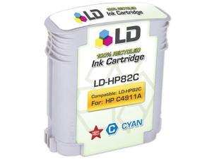 LD © Remanufactured Replacement for Hewlett Packard C4911A (HP 82) Cyan Inkjet Cartridge for use in HP cc800ps, 500, 500PS, ...