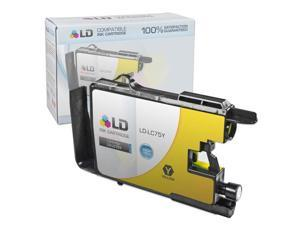 LD © Brother Compatible LC75Y High Yield Yellow Ink cartridge. (LC75 Series) for use in the Brother MFC-J6510DW, MFC-J6710DW, ...