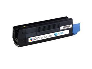 LD © Compatible Replacement for Okidata 43324403 (Type C8) High Yield Cyan Laser Toner Cartridge for use in Okidata OKI C5500n, ...