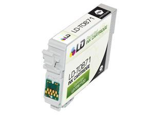 LD © Remanufactured Replacement for Epson T087120 (T0871) Black Inkjet Cartridge for use in Epson Stylus Photo R1900 Printers
