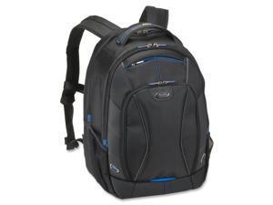 "Laptop Backpack 17.3"" 13""x9-1/2""x18-1/2"" Black/Blue"