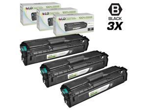 LD © Compatible Replacements for Samsung CLP/CLX/SL Set of 3 Black Laser Toner Cartridges: 3 CLT-K504S Black for use in Samsung ...
