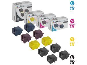 LD © Compatible Replacements for Xerox 10PK Ink Sticks Includes:4 108R00930 Black, 2 108R00926 Cyan, 2 108R00927 Magenta, & 2 108R00928 Yellow for use in Xerox ColorQube 8570DN, 8570DT, & 8570N