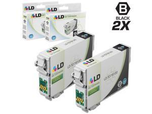 LD © Remanufactured Replacement for Epson T079 Set of 2 Black High Yield Ink Cartridges Includes: 2 T079120 Black for use in Artisan 1430, and Stylus Photo 1400 Printers