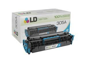 LD © Remanufactured Replacement for Hewlett Packard CE411A (HP 305A) Cyan Laser Toner Cartridge for HP LaserJet Pro 300 Color ...