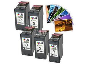 LD © Remanufactured Lexmark #2 & #3 five pack with paper