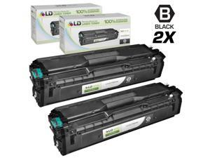 LD © Compatible Replacements for Samsung CLP/CLX/SL Set of 2 Black Laser Toner Cartridges: 2 CLT-K504S Black for use in Samsung ...