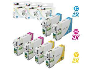 LD Remanufactured Replacement for Epson T079 Set of 6 High Yield Ink Cartridges Includes: 2 T079220 Cyan, 2 T079320 Magenta, and 2 T079420 Yellow for the Artisan 1430, and Stylus Photo 1400 Printers