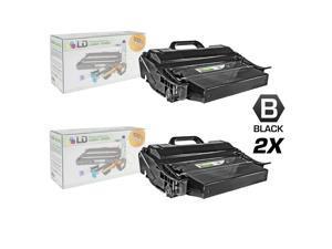LD © Compatible Lexmark T650H11A Set of 2 Black Laser Toner Cartridges for T650 Printers