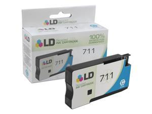 LD © Remanufactured Replacement for Hewlett Packard CZ130A (HP 711) Cyan Ink Cartridge for use in HP DesignJet T120, and T520 Printers