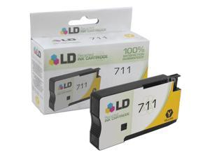 LD © Remanufactured Replacement for Hewlett Packard CZ132A (HP 711) Yellow Ink Cartridge for use in HP DesignJet T120, and T520 Printers