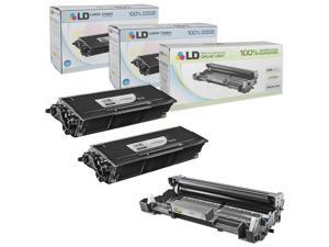 LD © Compatible Brother TN580 Toner and DR520 Drum Combo Pack: 2 Black TN580 Laser Toner Cartridge and 1 DR520 Drum Unit