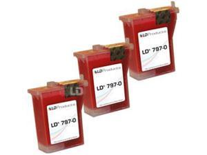 LD © Compatible Pitney Bowes 797-0 Set of 3 Fluorescent Red Inkjet Cartridges for use in Pitney Bowes MailStation K700