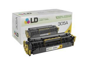 LD © Remanufactured Replacement for Hewlett Packard CE412A (HP 305A) Yellow Laser Toner Cartridge for HP LaserJet Pro 300 ...