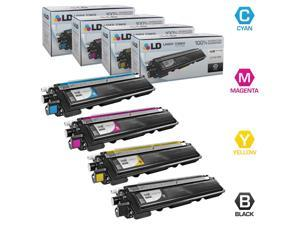 LD Brother Compatible TN-210 Set of 4 HY Toner Cartridges: 1 TN210BK & 1 TN210C, TN210M, & TN210Y for DCP-9010CN, HL-3040CN, 3045CN, 3070CW, 3075CW, MFC-9010CN, 9120CN, 9125CN, 9320CN, 9320CW, 9325CW