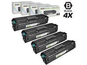 LD © Compatible Replacements for Samsung CLP/CLX/SL Set of 4 Black Laser Toner Cartridges: 4 CLT-K504S Black for use in Samsung ...