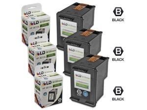 LD © Remanufactured Replacement Ink Cartridges for HP CC654AN HP 901XL / 901 HY Black (3 Pack) for the OfficeJet J4540, J4580, J4660, G510a, J4680c, G510n, J4524, J4550, 4500, J4624, J4680, G510g