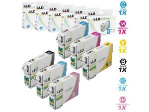LD Remanufactured Replacement for Epson T079 Set of 6 High Yield Ink Cartridges: 1 T079120, 1 T079220, 1 T079320, 1 T079420, 1 T079520, and 1 T079620 for the Artisan 1430, Stylus Photo 1400 Printers