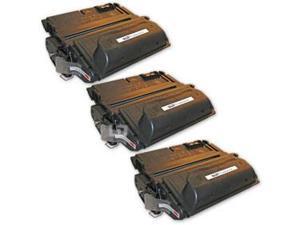LD © Remanufactured Replacement Laser Toner Cartridges for Hewlett Packard Q1338A (HP 38A) Black (3 Pack)