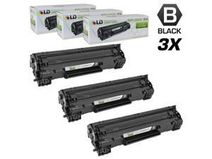 LD © Compatible Replacement Laser Toner Cartridges for Hewlett Packard CF283A (HP 83A) Black (3 Pack) for use in HP LaserJet Pro MFP M127fn, MFP M127fw, MFP M125nw & MFP M125rnw Printers