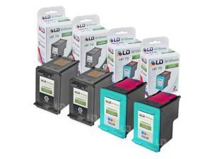 LD © Remanufactured Ink Cartridge Replacements for HP CB335WN (HP 74) Black and HP CB337WN  (HP 75) Color (2 Black and 2 Color)