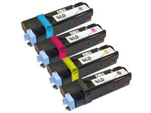 LD © Compatible Xerox Phaser 6125 / 6125N Set of 4 High Yield Laser Toner Cartridges: 1 Black 106R01334, 1 Cyan 106R01331, ...