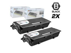 LD © Compatible Brother TN460 Set of 2 Black Laser Toner Cartridges