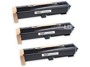 LD © Compatible Xerox 006R01184 / 6R1184 Set of 3 Black Laser Toner Cartridges