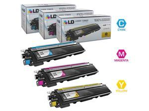 LD © Compatible Brother TN210 Set of 3 High Yield Color Toner Cartridges: 1 of each Cyan TN210C, Magenta TN210M, and Yellow TN210Y